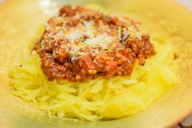 Spaghetti sqash with pork belly ragu-2