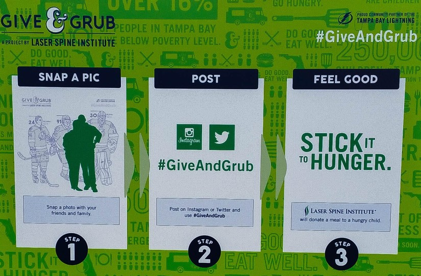 #GiveAndGrub, Sticking it to Hunger One Meal at a Time