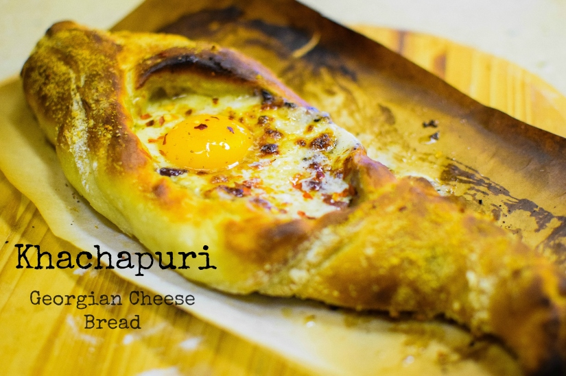 Khachapuri, Georgian Cheese, Bread and Egg Awesomeness