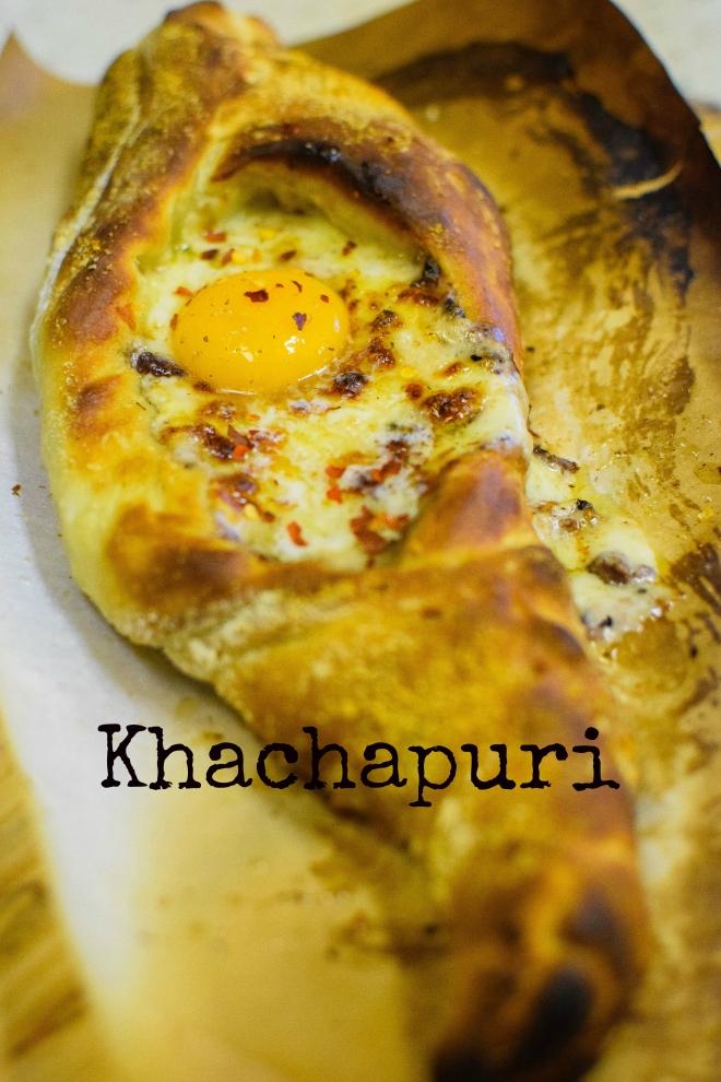 khachapuri with title